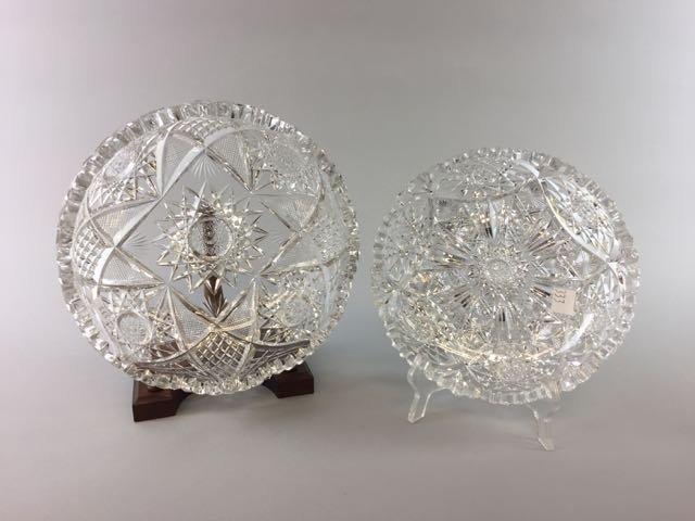 2 Piece Cut Glass Lot - 5