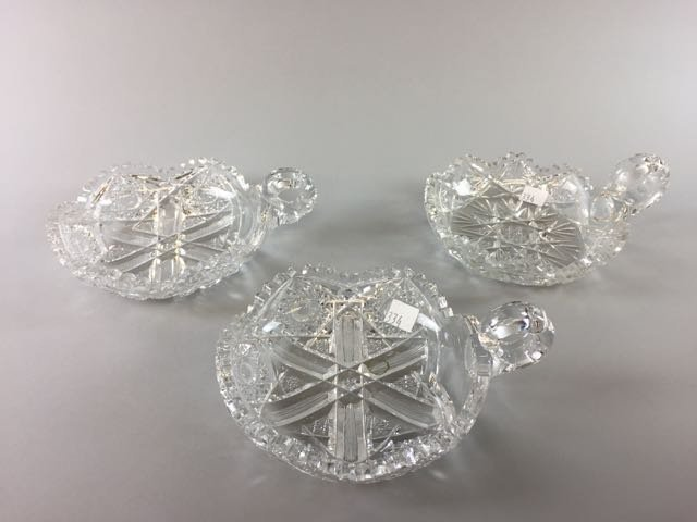 3 Piece Cut Glass Lot