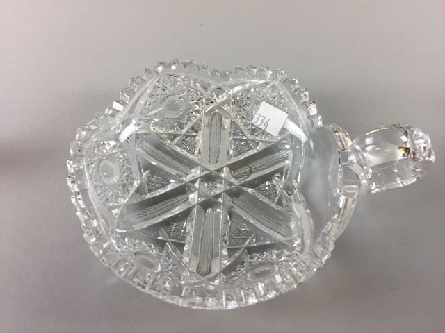 3 Piece Cut Glass Lot - 3
