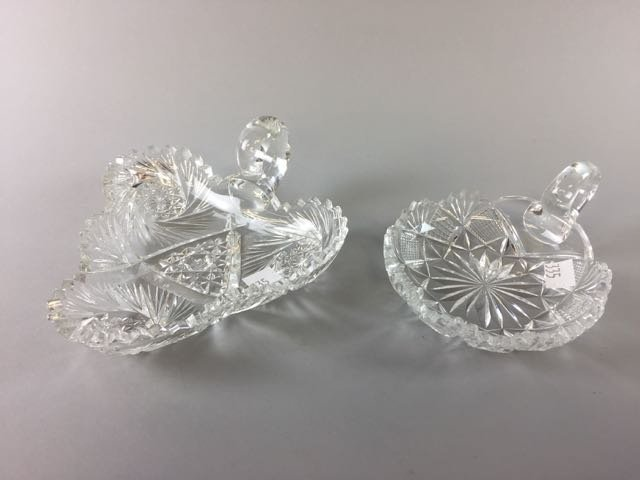 2 Piece Cut Glass Lot