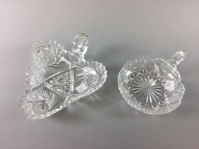2 Piece Cut Glass Lot - 2
