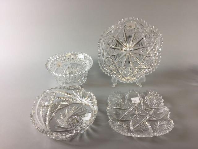 5 Pieces Cut Glass Lot - 2