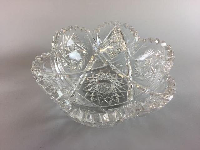 5 Pieces Cut Glass Lot - 3