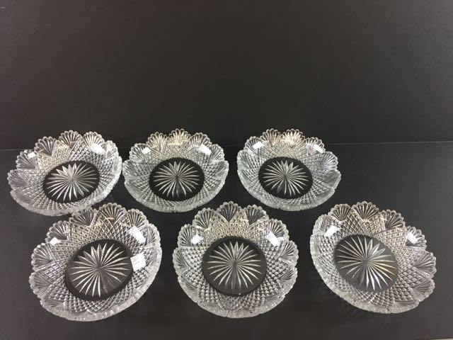Cut Glass Berry Set - 2