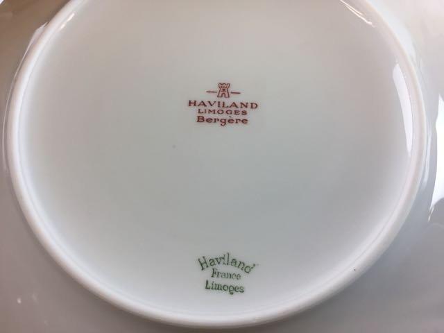Havilland Limoge Bergere' Dessert Set - 3
