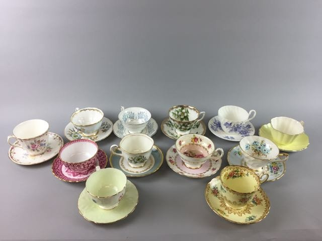 Lot of 12 Bone China Cups and Saucers - 2