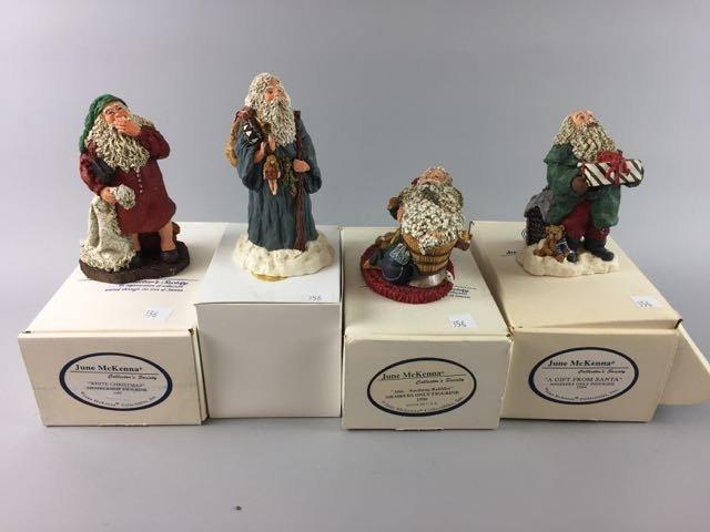 4 June McKenna Figures, Collector Santa