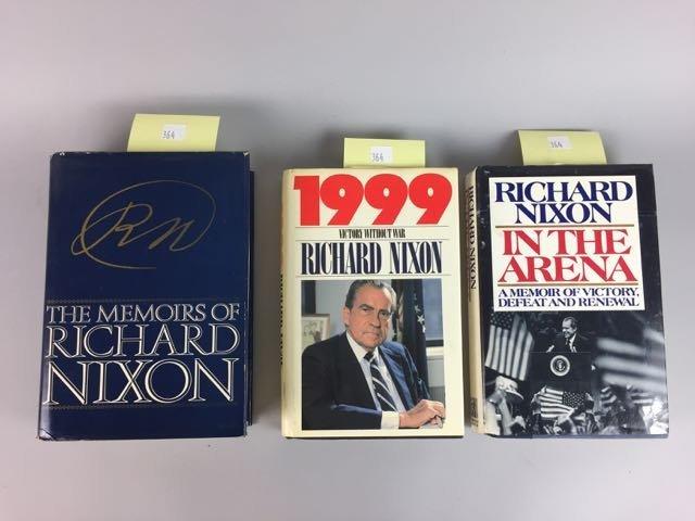 3 Hardback Nixon Autographed Books