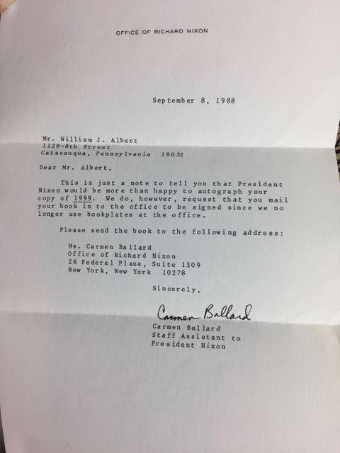 3 Hardback Nixon Autographed Books - 6