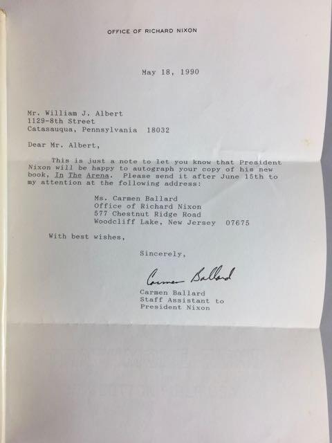 3 Hardback Nixon Autographed Books - 9