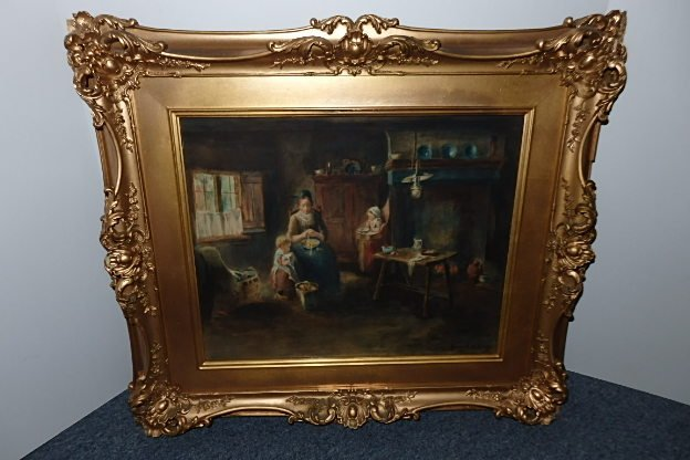 Early Framed Colorful Print