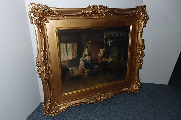Early Framed Colorful Print - 2
