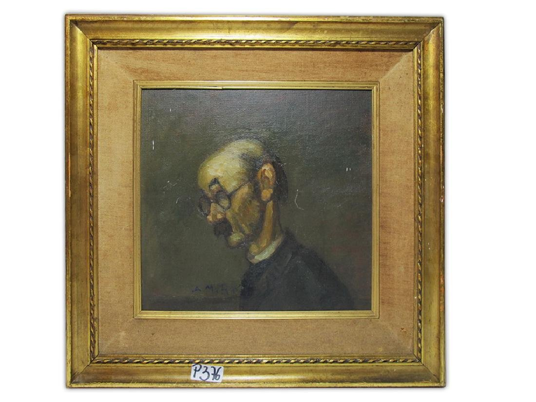 Antique oil on board painting. signed A. M. ROSSI