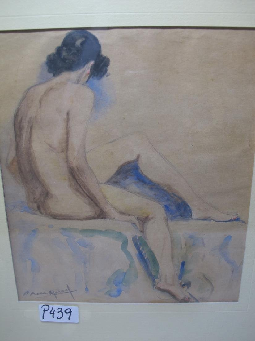Pedro ROCA Y MARSAL (1888-?) Spanish artist watercolor - 2