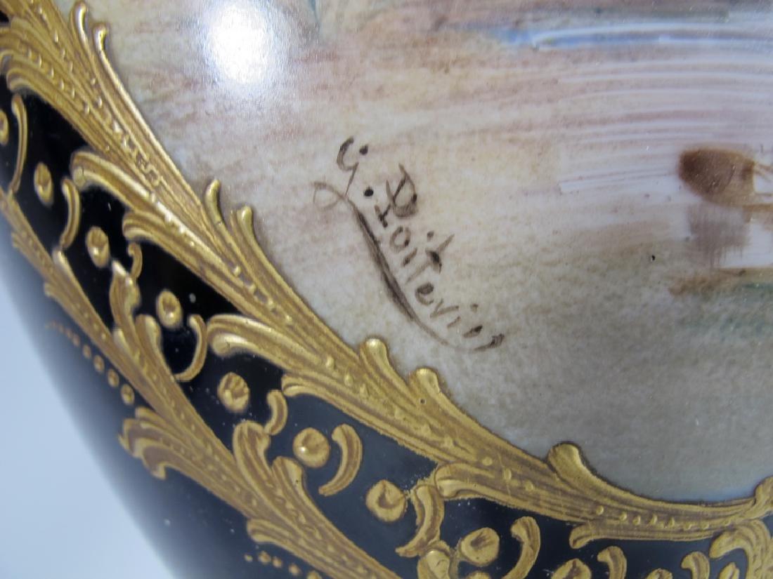 Antique French Sevres porcelain & bronze urn - 5