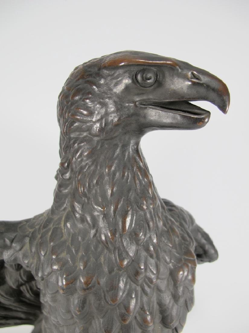 Antique French Barbedienne eagle bronze statue - 2