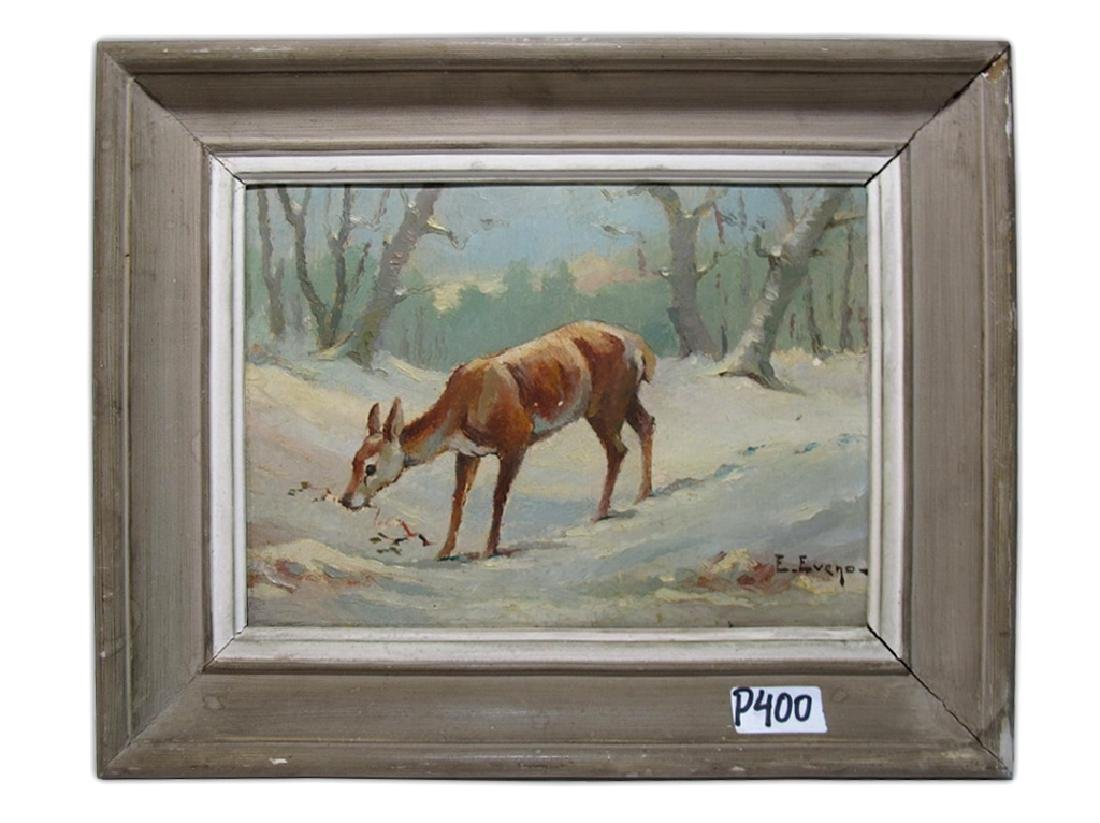 Edouard EVENO (1884-1980) oil on board painting, signed
