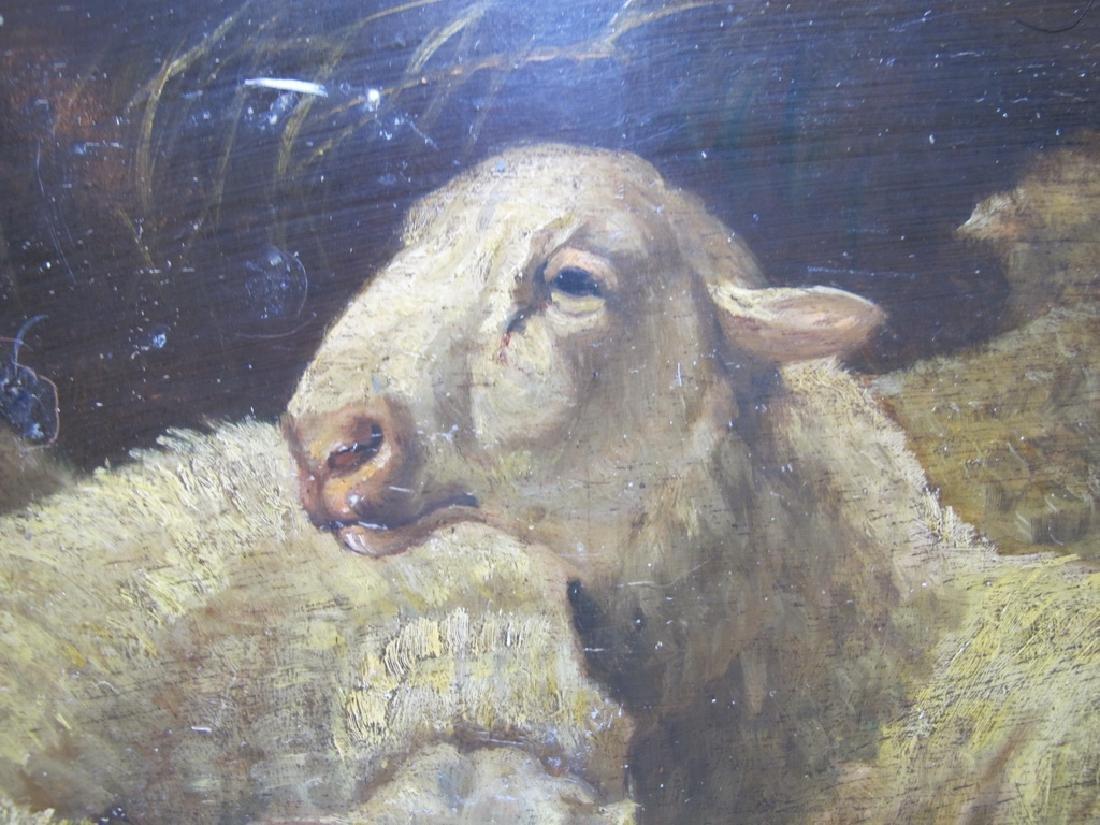 19th C European oil on wood painting - 2