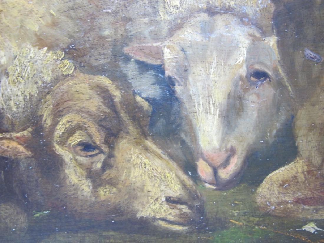 19th C European oil on wood painting - 3