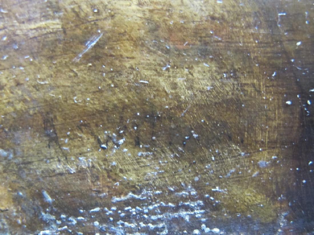 19th C European oil on wood painting - 4
