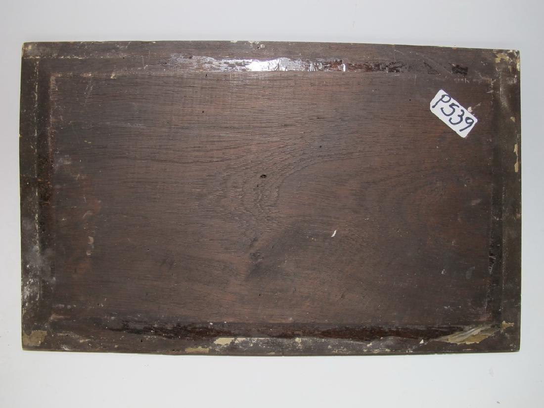 19th C European oil on wood painting - 5
