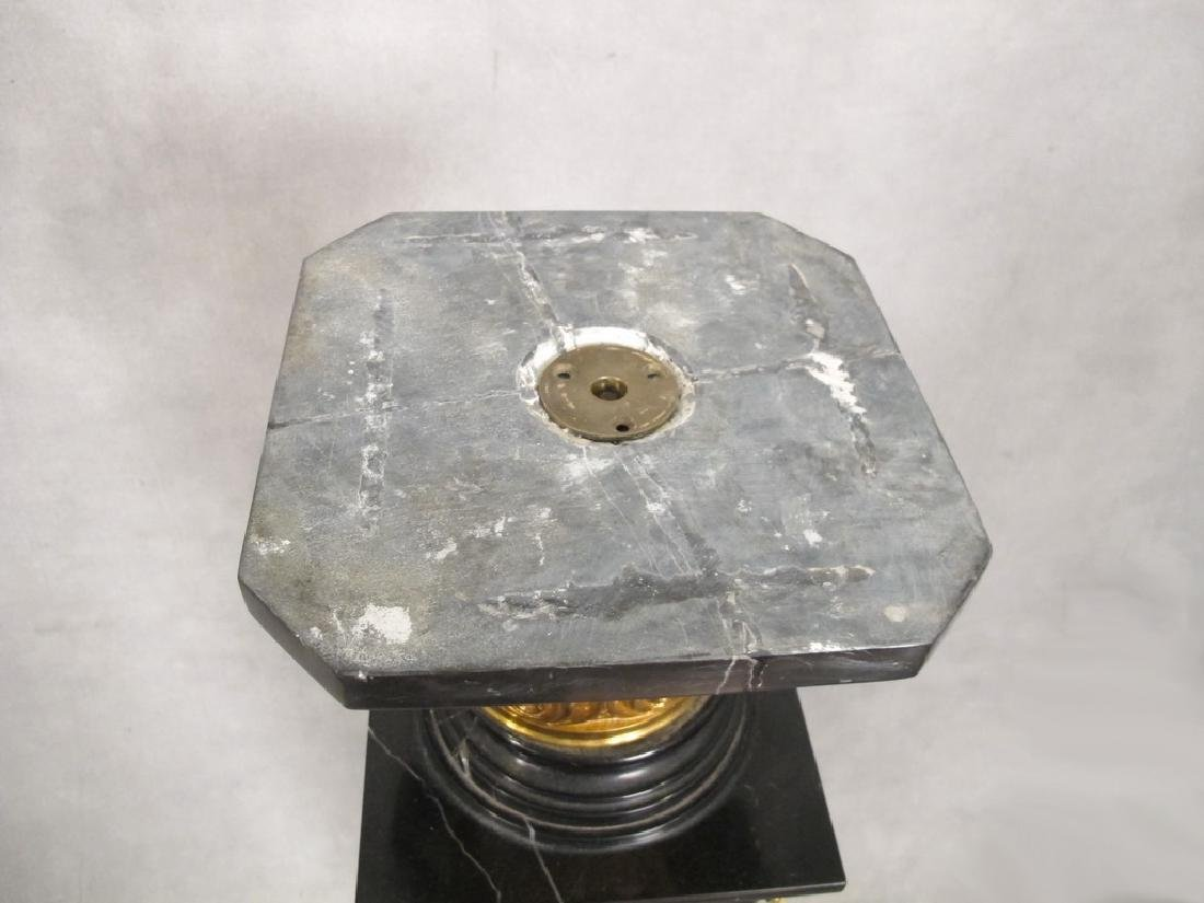 Antique French gilt bronze & marble pedestal - 6