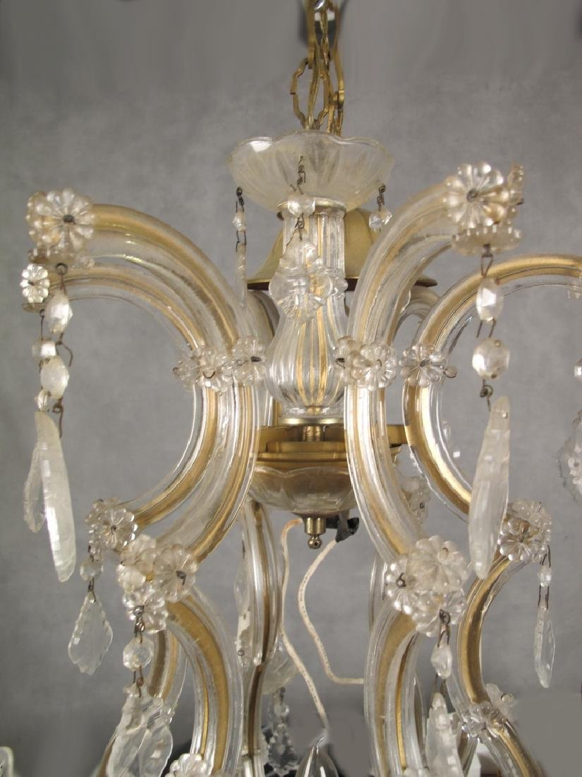 Antique French crystal chandelier - 2