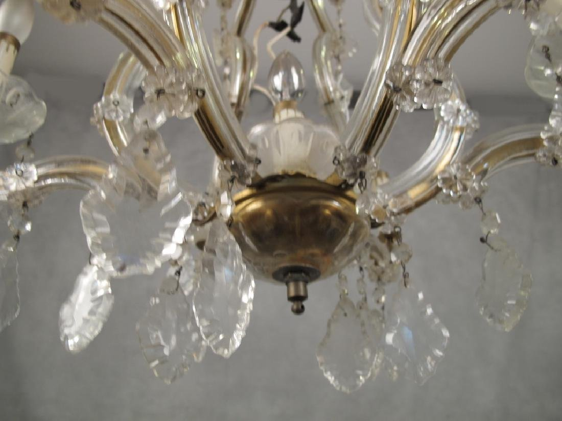 Antique French crystal chandelier - 3