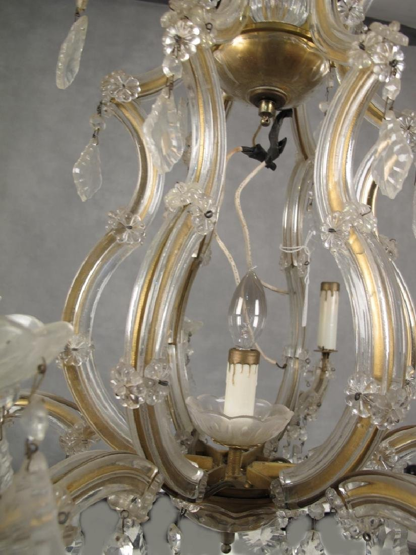 Antique French crystal chandelier - 4