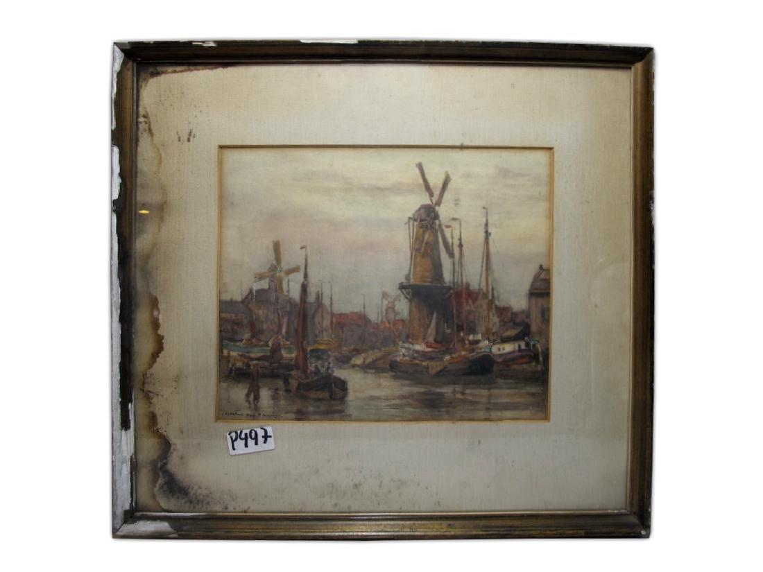 Martin VAN WANING (1889-1972) watercolor