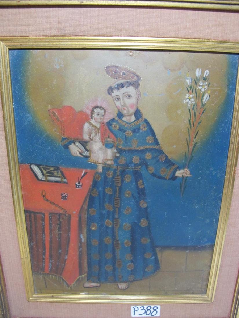 Antique European oil on metal Religious painting - 2