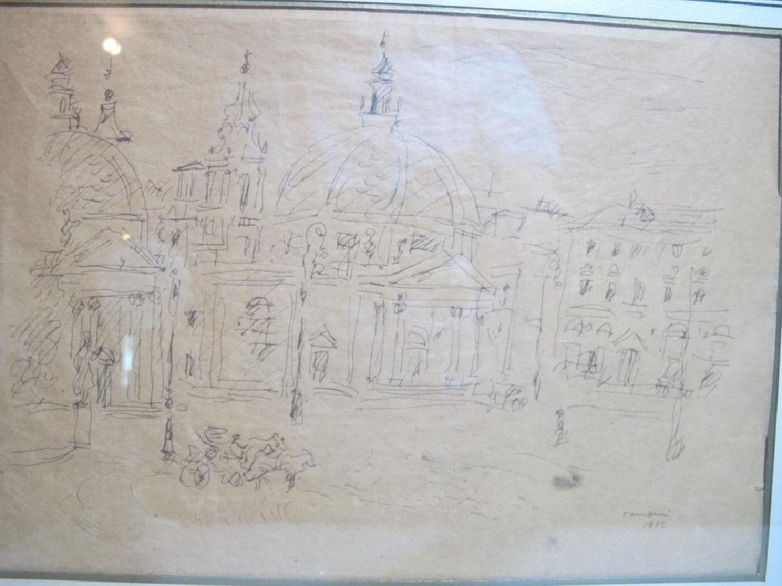 Orfeo TAMBURI (1910-1994) Italian artist drawings - 2