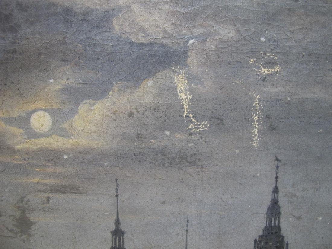 Antique European oil on canvas landscape painting - 2