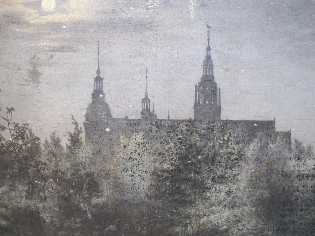 Antique European oil on canvas landscape painting - 3
