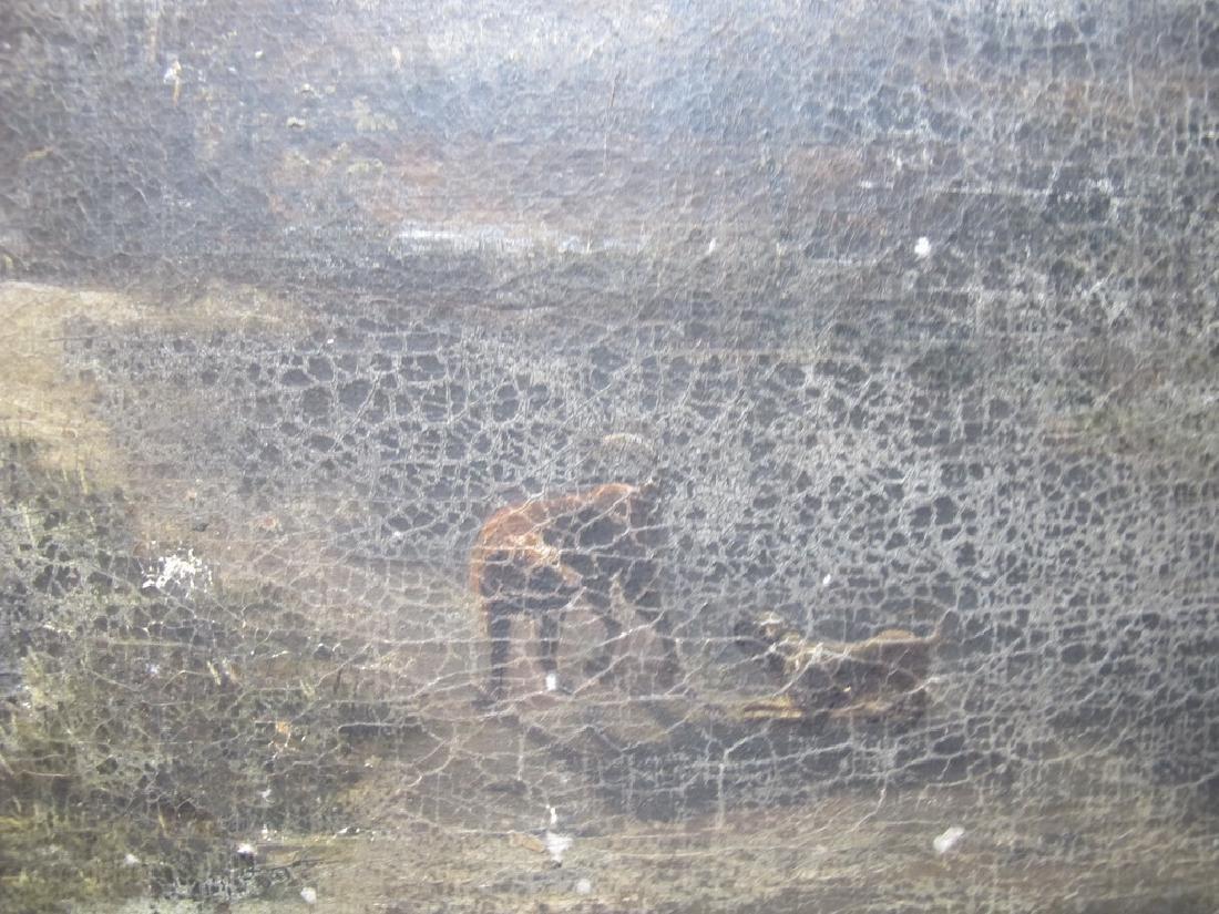 Antique European oil on canvas landscape painting - 5