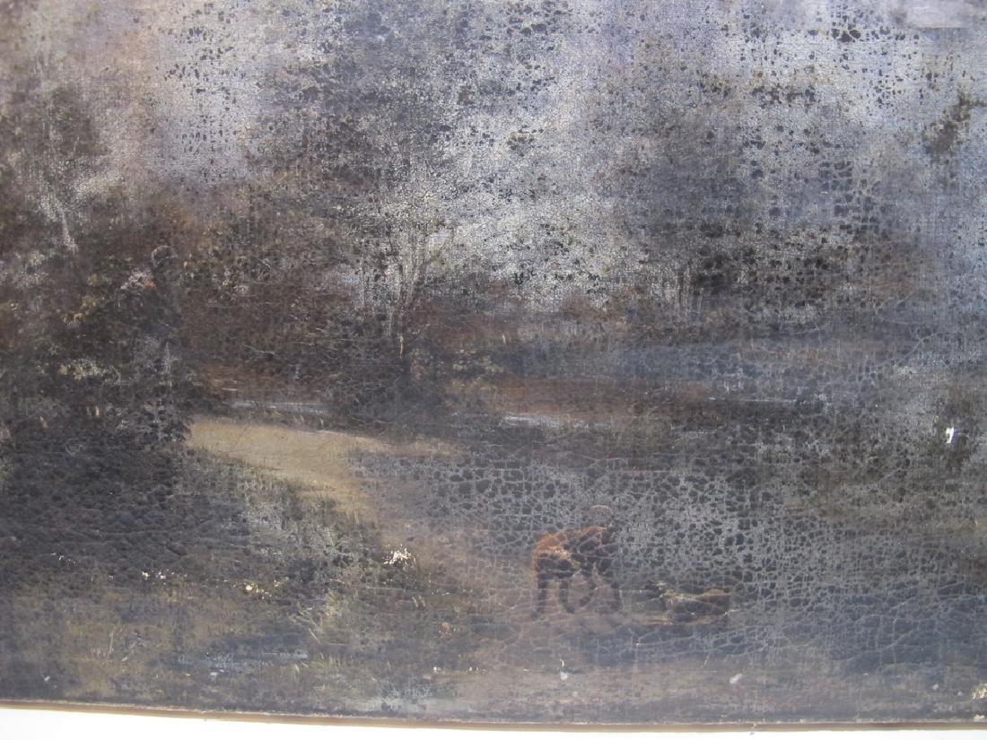 Antique European oil on canvas landscape painting - 6