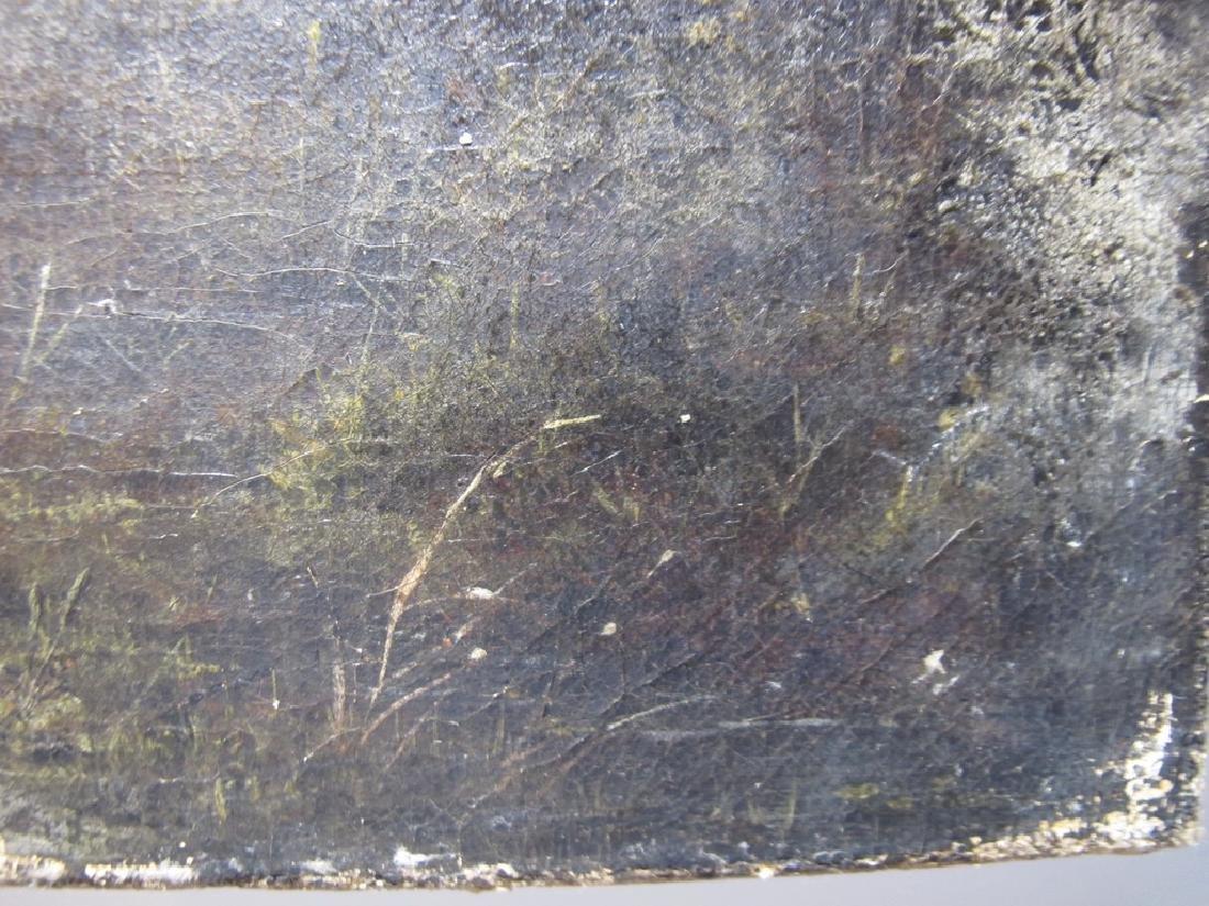 Antique European oil on canvas landscape painting - 7