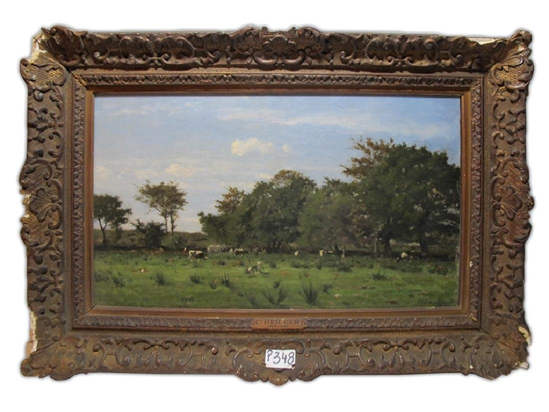 Camille BERNIER (1823-1902) oil on board painting