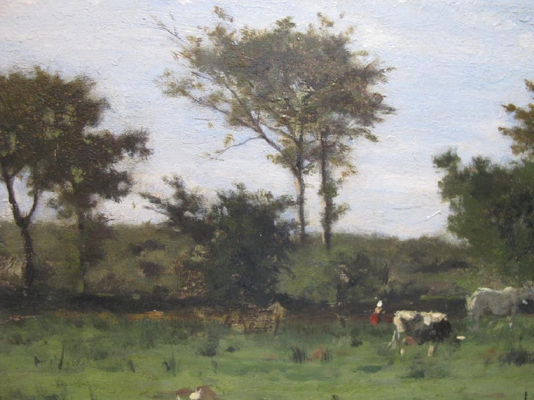 Camille BERNIER (1823-1902) oil on board painting - 3