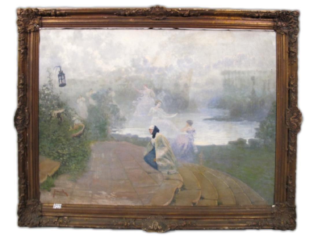 José QUARANTA (1851-1921) oil on canvas painting