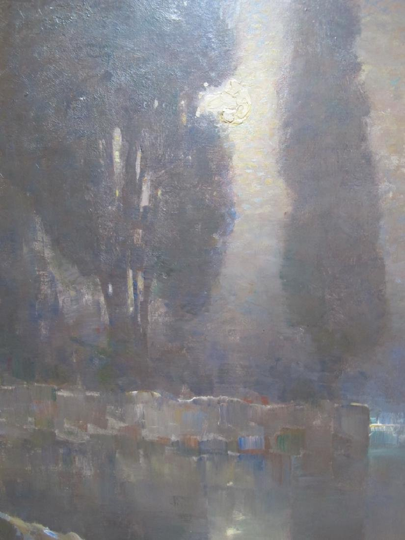 Emo MAZZETTI (1870-1955) oil on board painting - 4