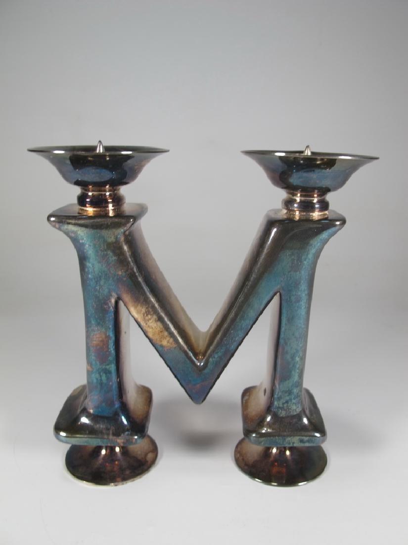 Vintage Sterling Bichierogra candlestick by Pampaloni