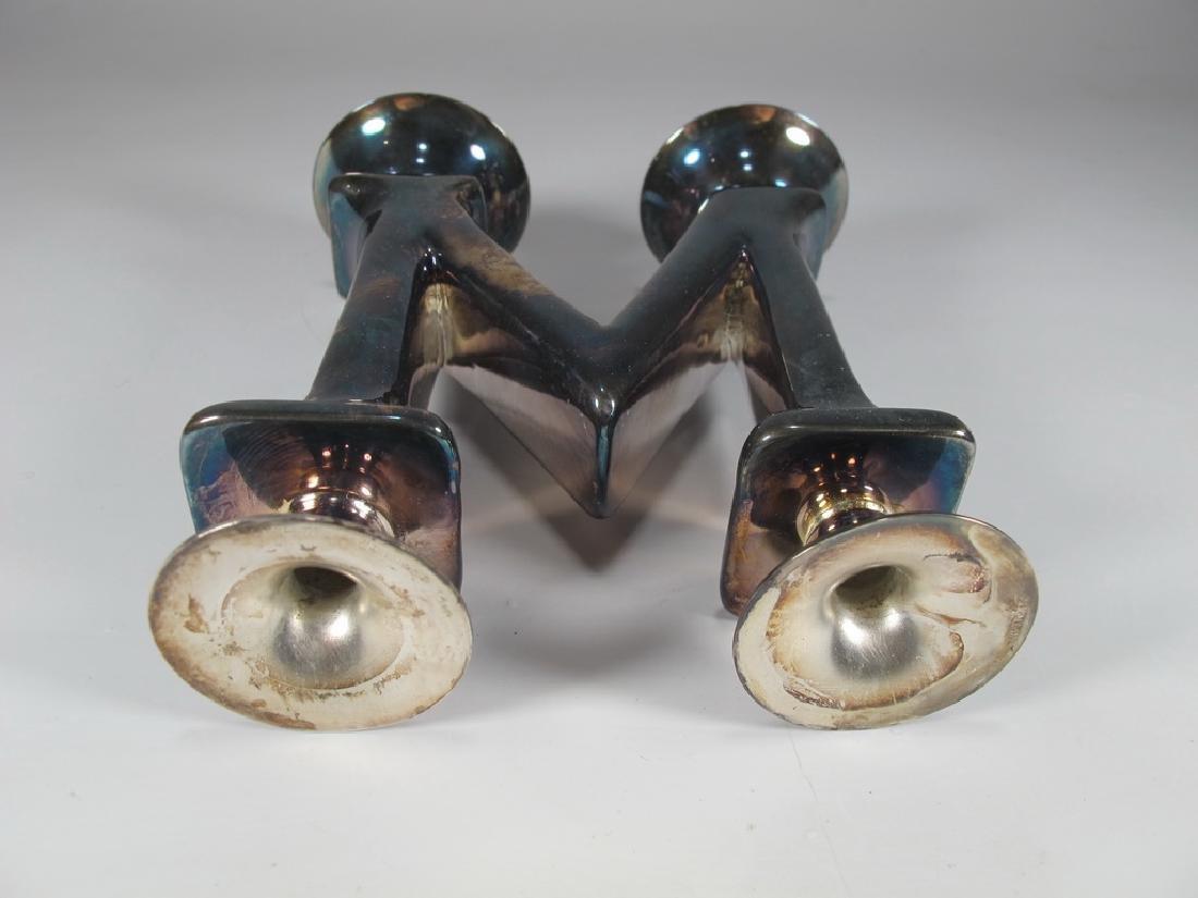 Vintage Sterling Bichierogra candlestick by Pampaloni - 3