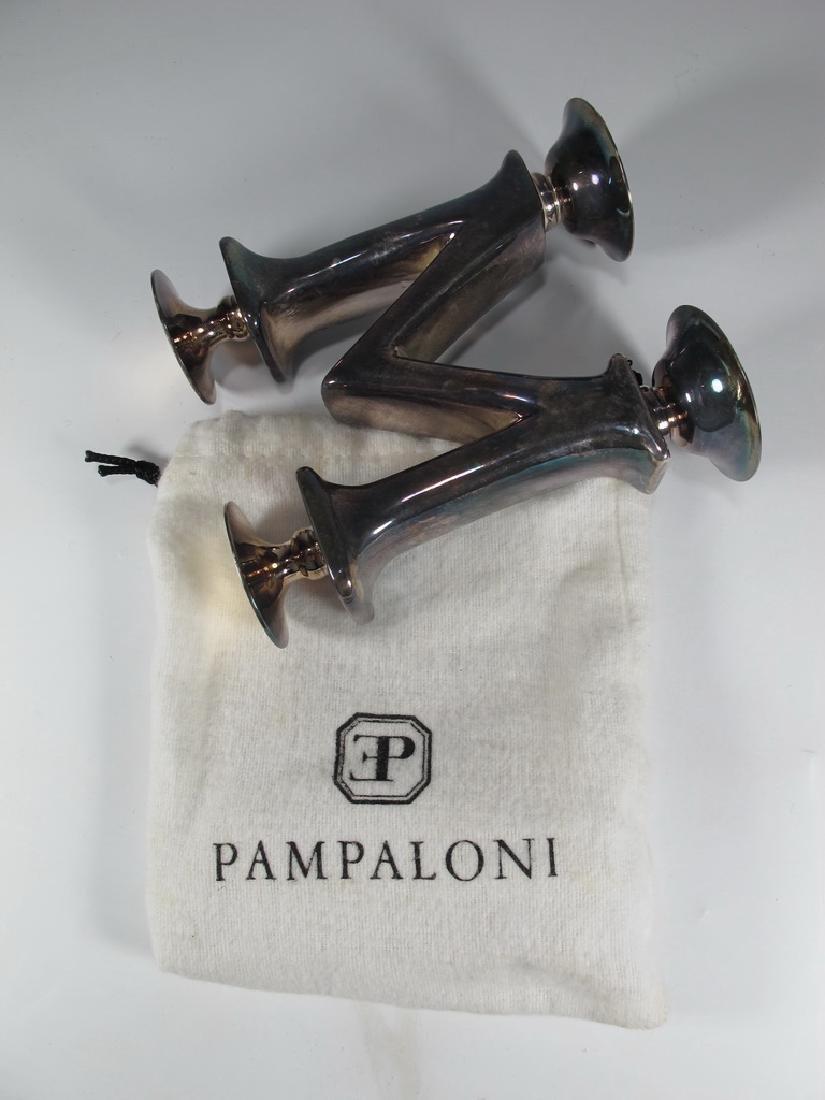 Vintage Sterling Bichierogra candlestick by Pampaloni - 5
