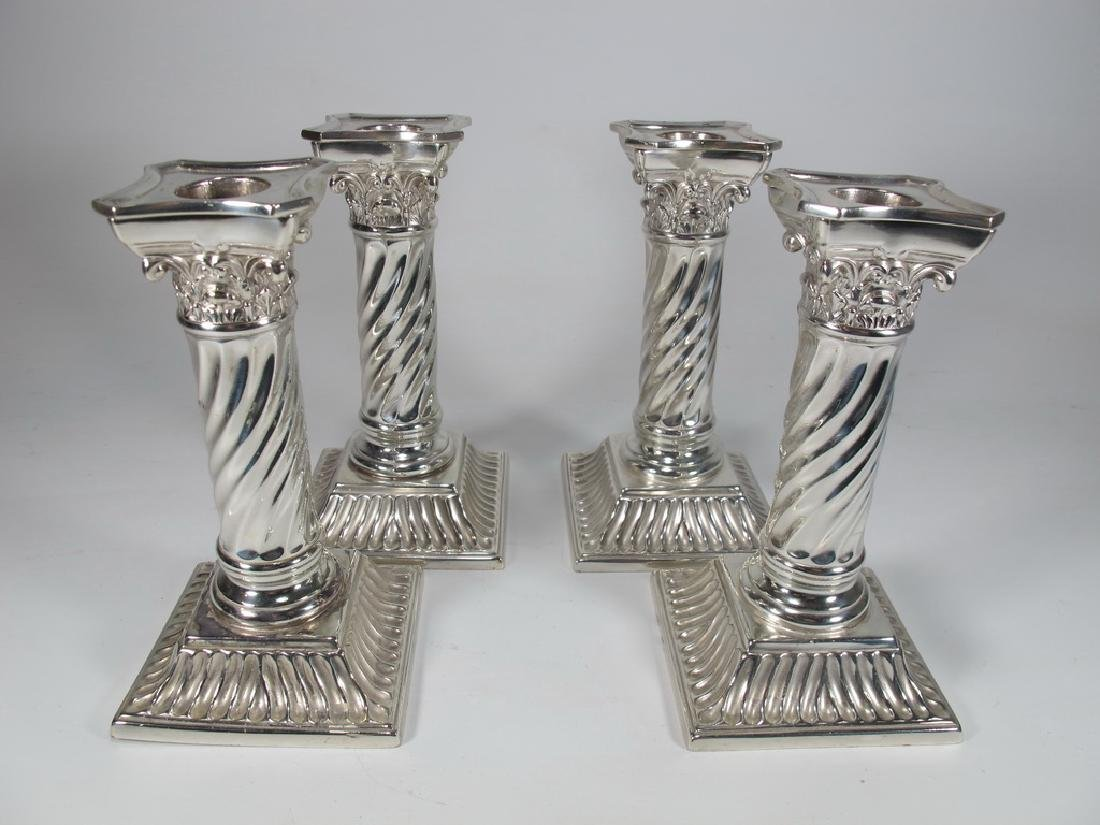 Wilcox Silverplate Co 4 candlesticks