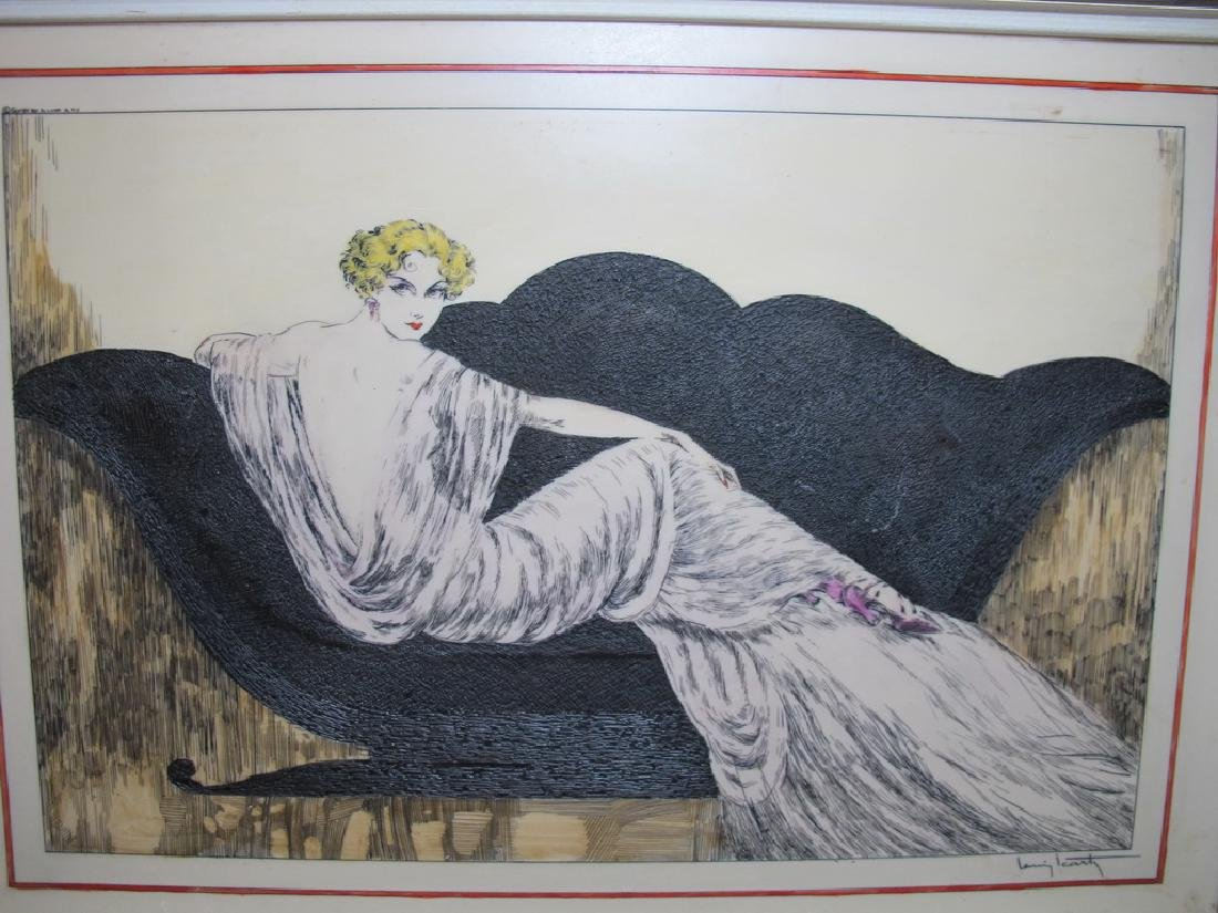 3 Louis ICART (1888-1950) engraving on resine repro - 2
