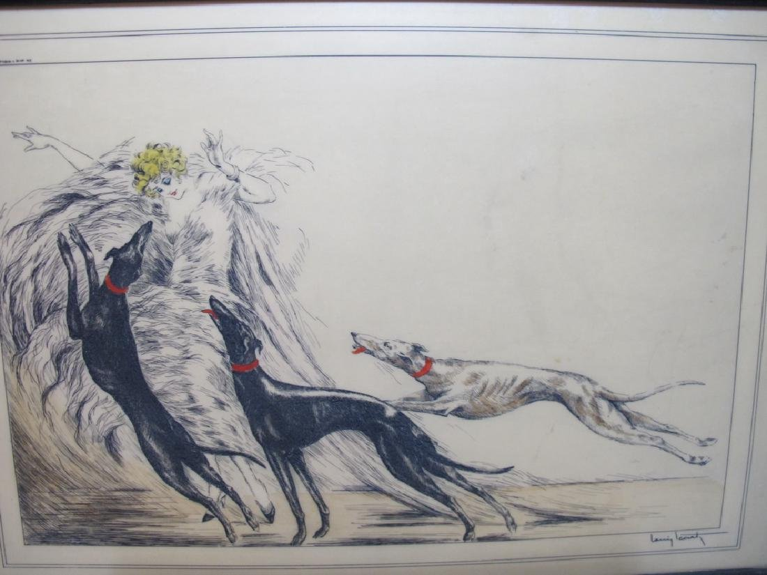 3 Louis ICART (1888-1950) engraving on resine repro - 4