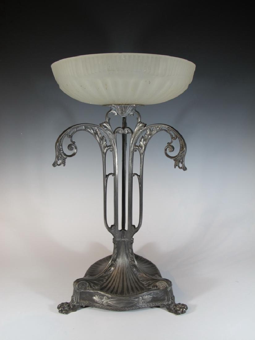 Antique German WMF metal & glass centerpiece