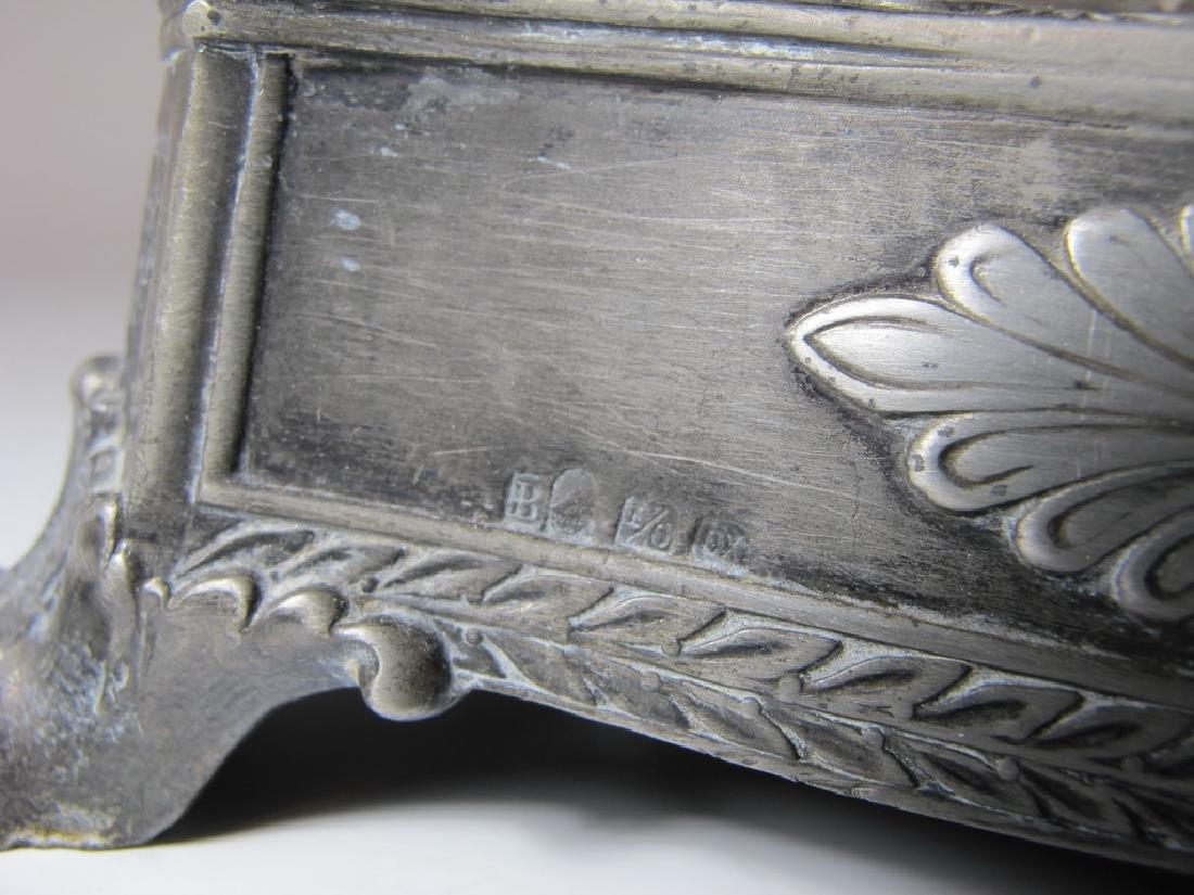 Antique German WMF metal & glass centerpiece - 7