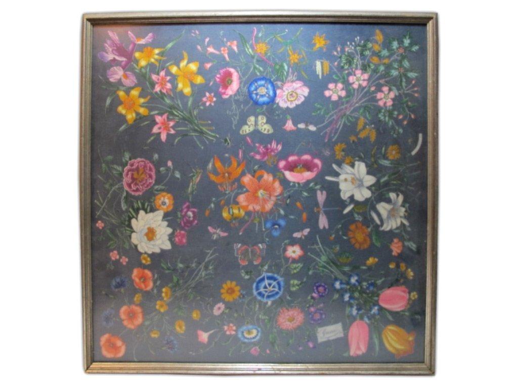 1970's Gucci V. Accornero framed scarf